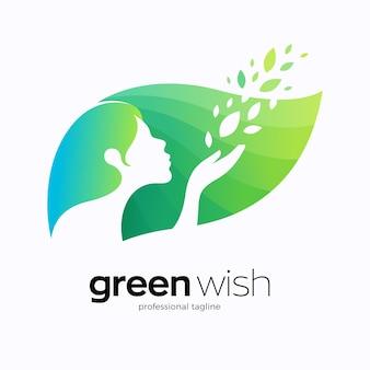 Wünsche natur logo design