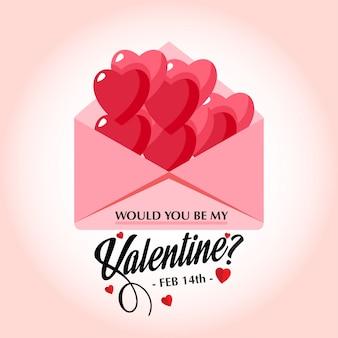 Würden sie die stilvolle vektorkarte meines valentinsgrußes sein?