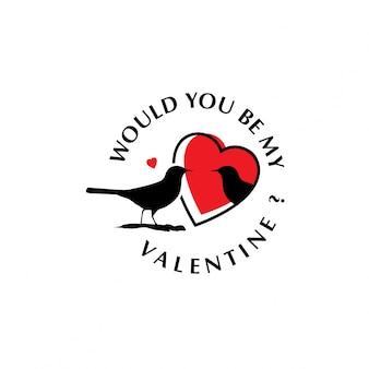 Würdest du mein valentinsgruß mit vögeln sein?