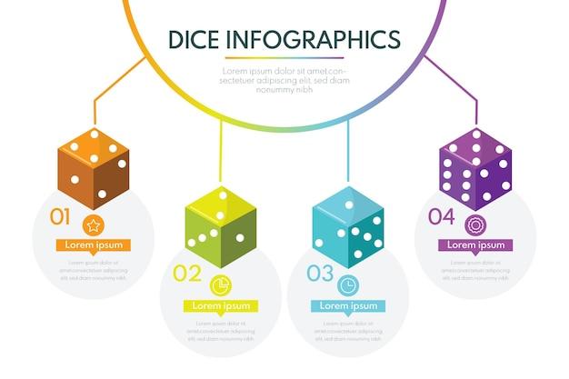 Würfel infografik vorlage