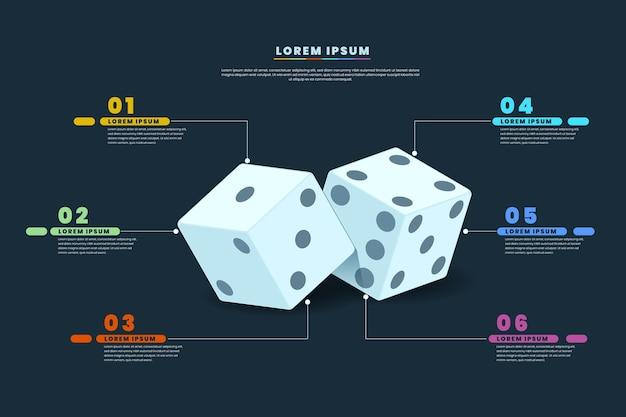 Würfel infografik