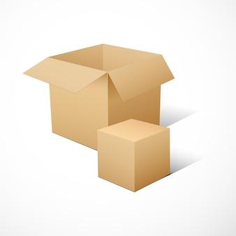 Würfelförmige softwarepaketbox