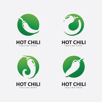 Würziges chili-logo-symbol vektor red pepper-logo-vorlage