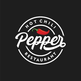 Würziges chili pepper vintage logo