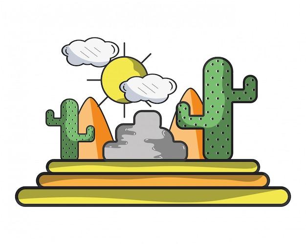 Wüste und kaktus