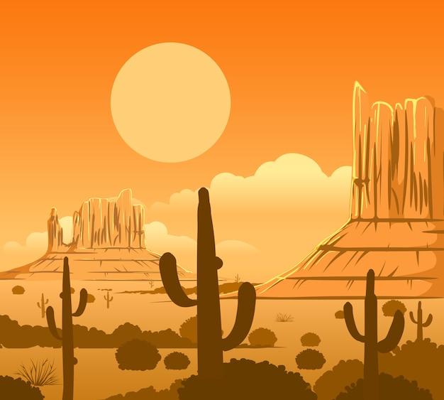 Wüstenlandschaft amerikas wilde west