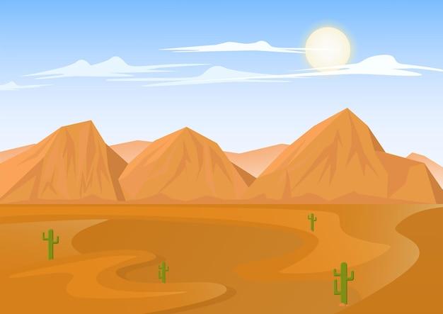 Wüstenlandschaft mit sandsteinberg