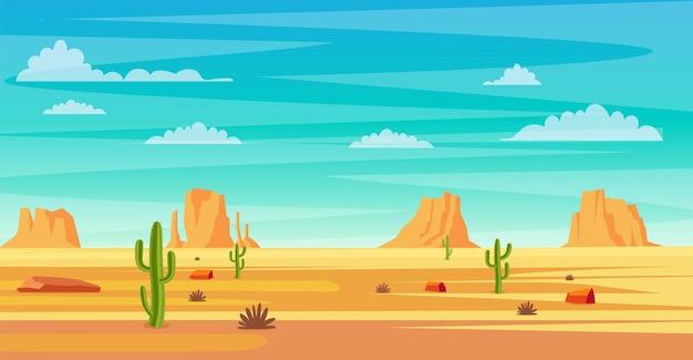 Wüstenlandschaft. Premium Vektoren