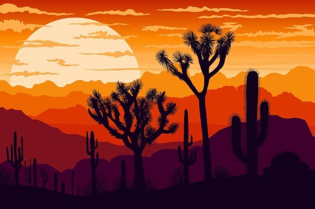 Wüstenlandschaftshintergrund für videokonferenzen