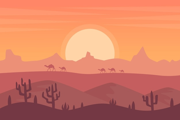 Wüstenlandschaftstapete für videokonferenzen