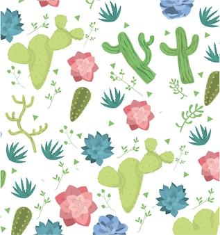 Wüstenpflanzen muster hintergrund