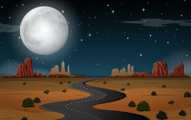 Wüstenszene in der nacht