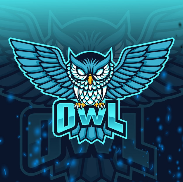 Wütend eule maskottchen esport-logo