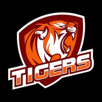 Wütend tiger logo konzept