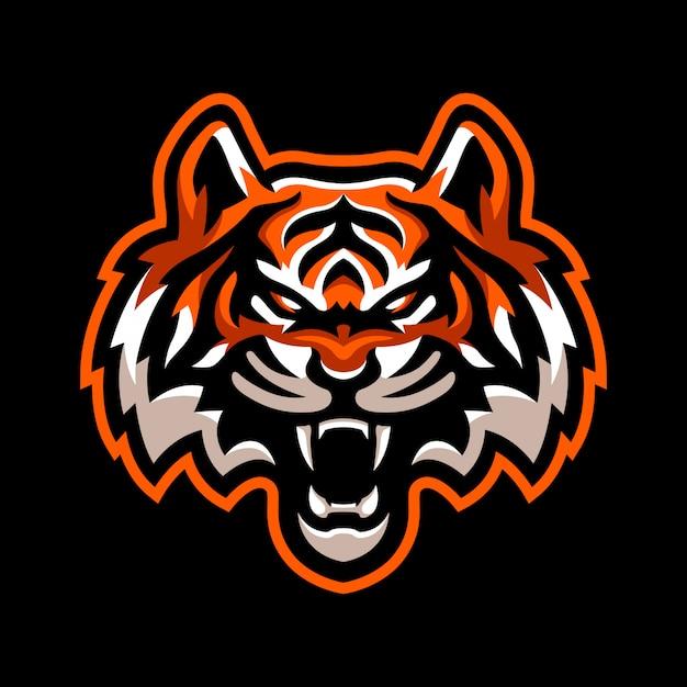 Wütend tiger maskottchen logo