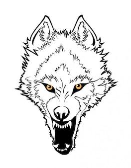 Wütend wolfgesicht