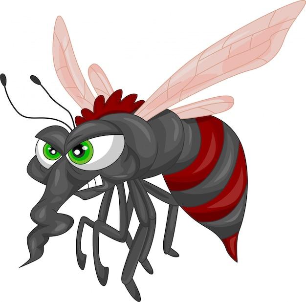 Wütende mückenkarikatur
