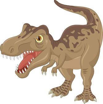 Wütende tyrannosauruskarikatur