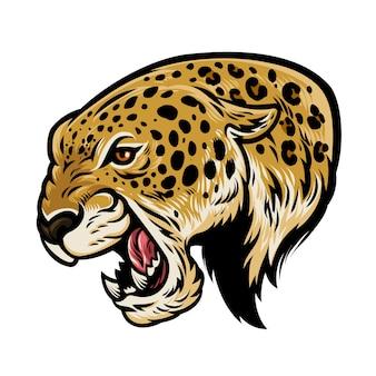 Wütender aggressiver leopard