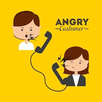 Wütender kunde