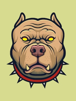 Wütender pitbull hund