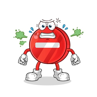 Wütender stoppschild-cartoon