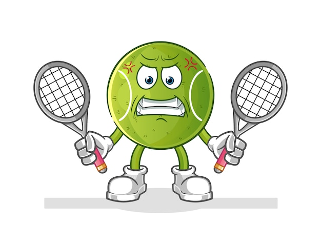 Wütender tennisball-cartoon
