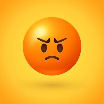 Wütendes emoji mit rotem gesicht