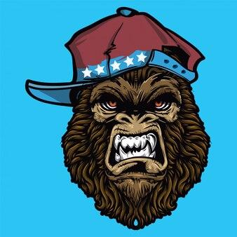 Wütendes gorilla-gesicht