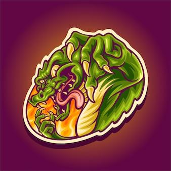 Wütendes krokodilmaskottchen-logo