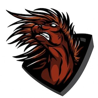 Wütendes pferd springen