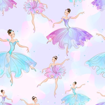Wunderbare ballerina mädchen.