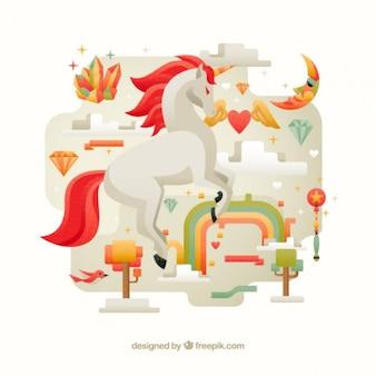 Wunderbare einhorn illustration