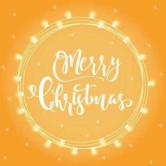 Wunderbare und einzigartige handgeschriebene weihnachtswünsche für feiertagsgrußkarten, einladungen, banner. handgezeichneter schriftzug. bokeh-designelemente für das neue jahr.