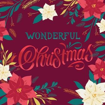 Wunderbarer text zur weihnachtszeit. designkarte für kalligraphische schriftzüge. kalligraphische handgemachte beschriftung.