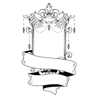 Wunderschöner barockrahmen mit leerzeichen