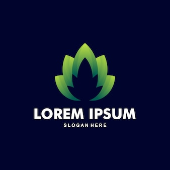 Wunderschönes lotus logo premium