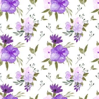 Wunderschönes nahtloses lila blumenmuster