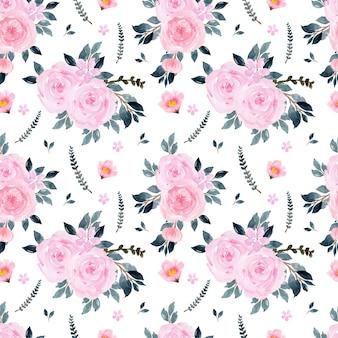 Wunderschönes nahtloses muster mit rosa blumen