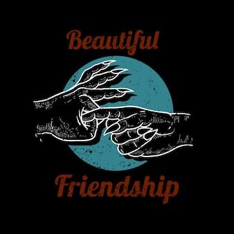 Wundervolle freundschaft