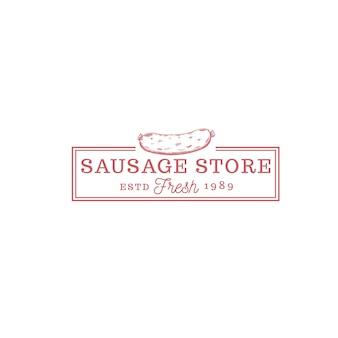 Wurstladen essen vintage-logo