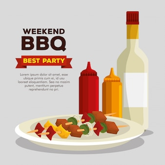 Wurstzubereitungsgrill und bbq-soßen