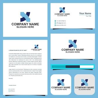X-logo und visitenkarte