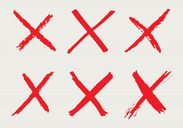 X marken im grunge-stil