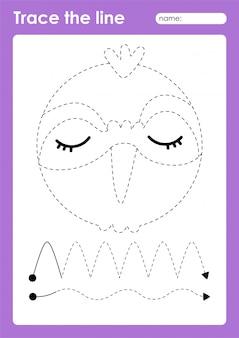 Xantus - vorschularbeitsblatt für kinder zum üben von feinmotorik
