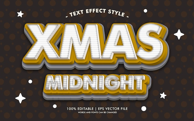 Xmas midnight text effects style