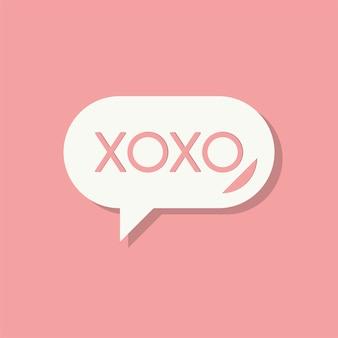 Xoxo nachricht valentinstag-symbol