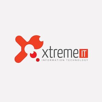 Xtreme technologycan it-logo-vorlage