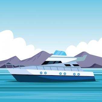 Yachtboot-karikatur