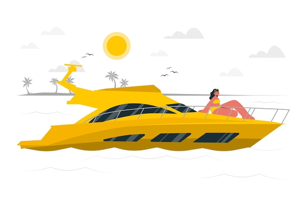 Yachtkonzeptillustration